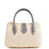 Cream Woven Straw Tote Bag