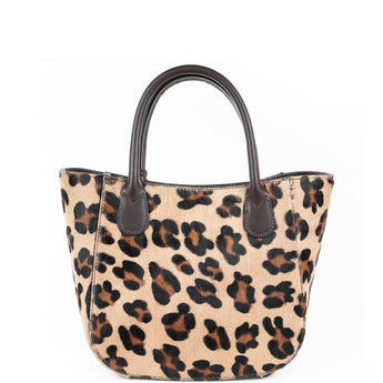 Leopard Cow Hair Small Grab Bag