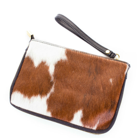 Natural Cow Hair Clutch Bag