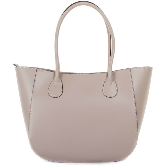 Nude Leather Shoulder Bag