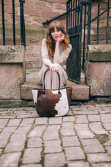 Natural Cow Hair & Real Leather Shoulder Bag - Amilu - Lifestyle