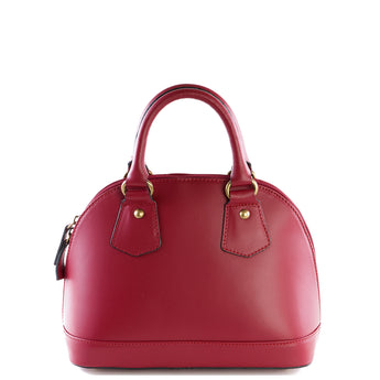Red Real Leather Bowling Grab Bag - Amilu