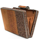 Tan Multi Textured Box Clutch Bag - Amilu