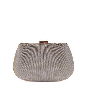 Textured Glitter Fabric Hardcase Shell Box Clutch