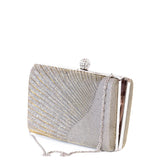 Textured Gold Hard case Art Deco Box Clutch