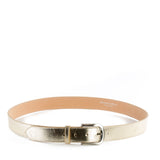 Gold Real Italian Leather Wide Belt