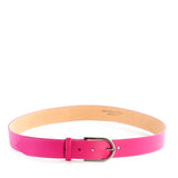 Pink Real Italian Leather Wide Belt - Amilu