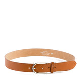 Tan Real Italian Leather Wide Belt