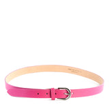 Pink Real Italian Leather Narrow Belt - Amilu