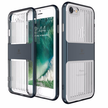Hybrid phone case for iPhone with hard plastic cover and transparent clear silicone - Fabstyle Company