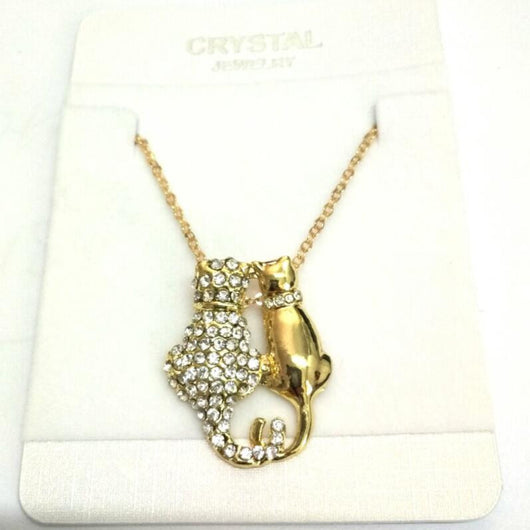 Really cute  AAAA+ czech Rhinestones Cats Pendant - Fabstyle Company