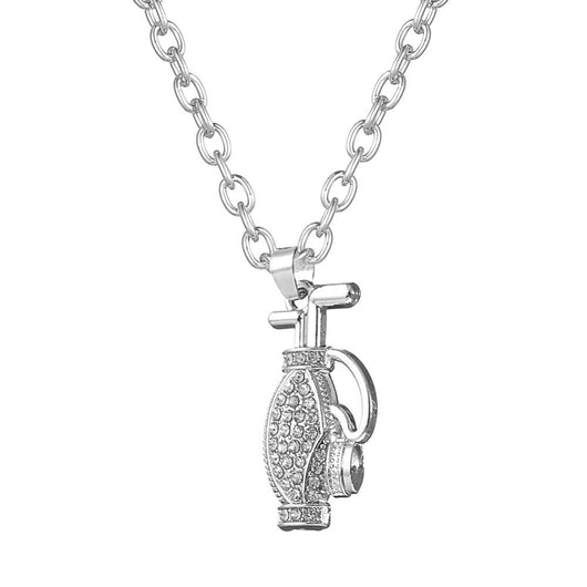 Crystal Golf Bag Pendant&Necklace Sport Design