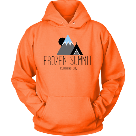 Frozen Summit Clothing Co. | Classic Hoodie in Neon Orange