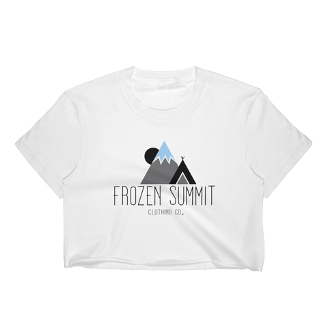 Frozen Summit Clothing Co. | Classic Crop Top in Blizzard White