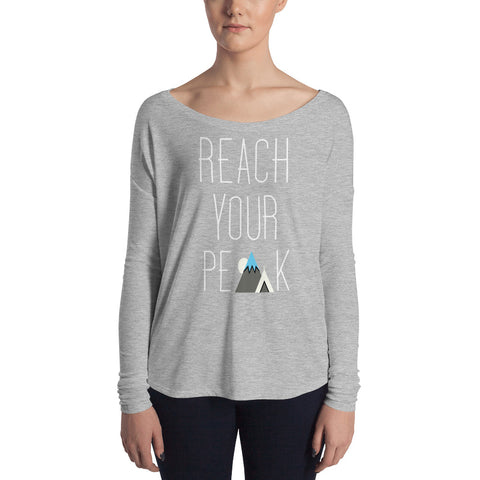 Frozen Summit Clothing Co. | Women's Premium Reach Your Peak Longsleeve