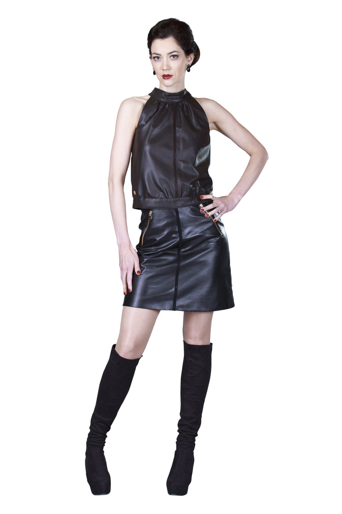 A-Line Skirt, Leather Skirt, Leather A-line Skirt