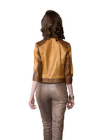 Beige Cropped Reindeer Leather Pants -  Limited Edition