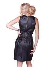 Black Rhinestones Reindeer Leather Dress -  Limited Edition