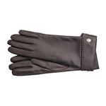 Fold Over Panel Reindeer Leather Gloves