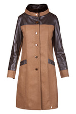 Merino Wool Mink Reindeer Leather Trench -  Limited Edition