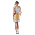 Bodice Laser Cut Reindeer Leather Dress -  Limited Edition