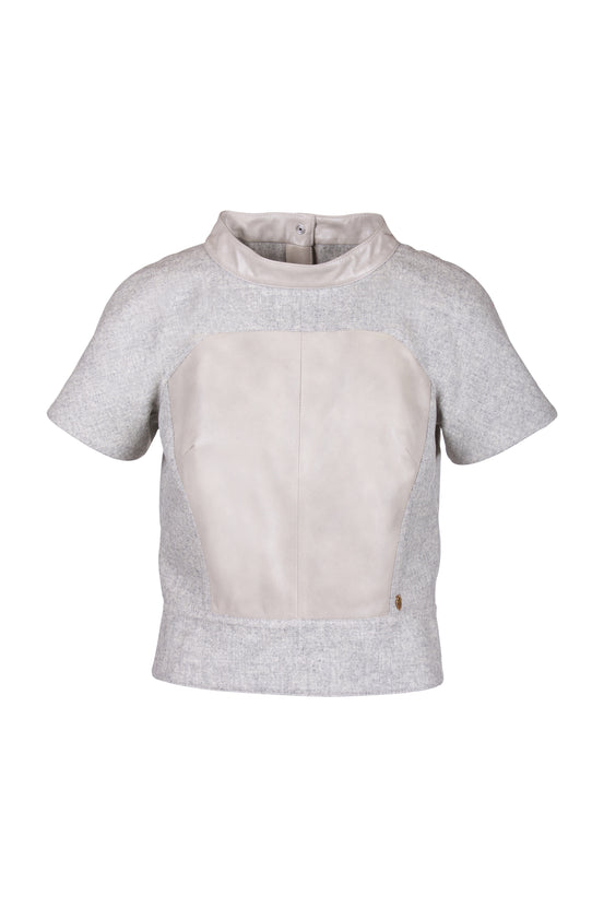 Merino Wool Reindeer Leather Blouse -  Limited Edition