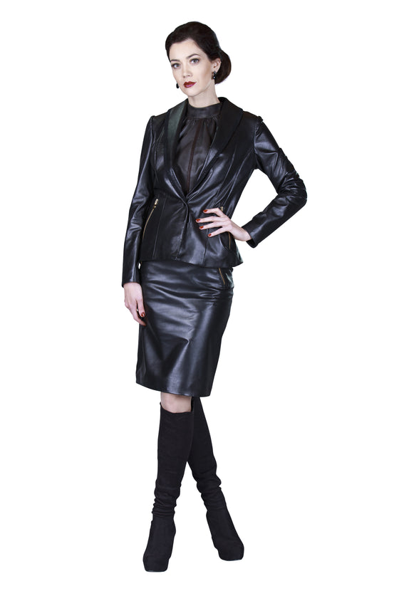 Pencil Reindeer Leather Skirt- Limited Edition