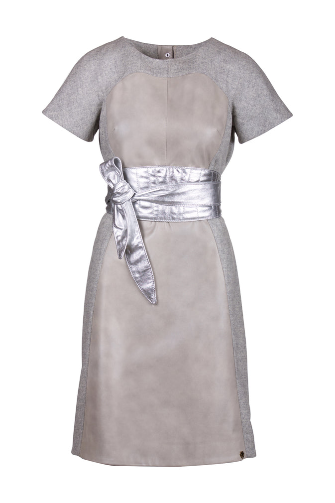Merino Wool Reindeer Leather Dress- Limited Edition