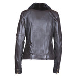Mink Removable Sleeves Reindeer Leather Jacket- Limited Edition