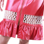 Sequin Panel Reindeer Leather Frill Summer Skirt- Limited Edition