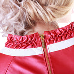 Criss-Cross Reindeer Leather Blouse -  Limited Edition