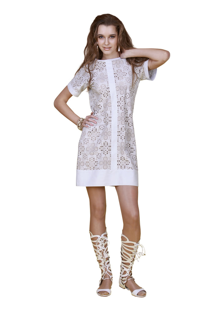 Laser Cut Reindeer Leather Dress -  Limited Edition
