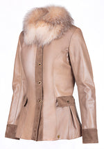 Winter Tailored Suede Reindeer Leather Jacket- Limited Edition