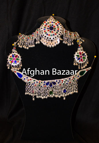 Afghan Colorful Jewelery 4 Piece Set - Afghan Bazaar