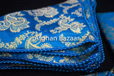 Blue and Gold Henna Wrap with Mirror Cover and Koran Cover - Afghan Bazaar