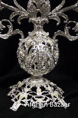 Candle Holder 3 piece Silver - Afghan Bazaar