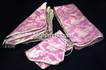 Carnation and Gold Henna Wrap with Mirror Cover and Koran Cover - Afghan Bazaar