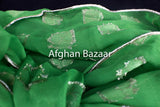 Green and gold leaf pattern wedding belt (Dismal Kamar) - Afghan Bazaar