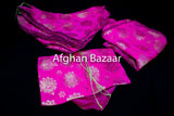 Hot Pink Henna Wrap with Mirror Cover and Koran Cover - Afghan Bazaar