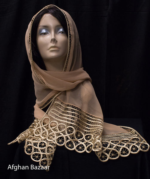 Scarf - Almond color - Afghan Bazaar