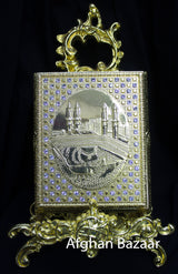 Gold Koran Box with Rhinestones - Afghan Bazaar