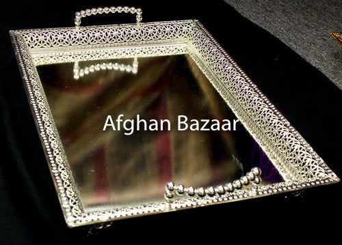 Large Silver Tray Both - Afghan Bazaar