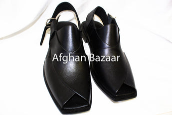 Men's Black Sandals - Afghan Bazaar