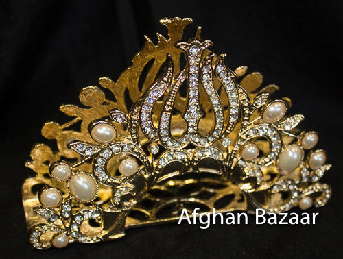 Gold Plate Napkin Holder - Afghan Bazaar