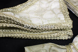 Off White and gold Henna Wrap with Mirror Cover and Koran Cover - Afghan Bazaar