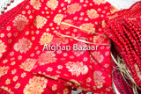 Red and gold Henna Wrap with Mirror Cover and Koran Cover - Afghan Bazaar