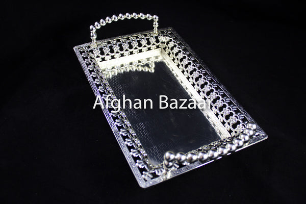 Silver Plated Tray - Afghan Bazaar
