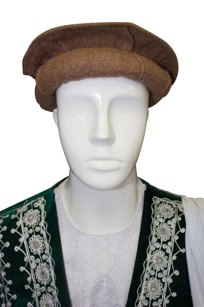 Afghan Hat Pakol - Light Brown - Afghan Bazaar