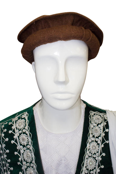 Afghan Hat Pakol - Dark Brown - Afghan Bazaar