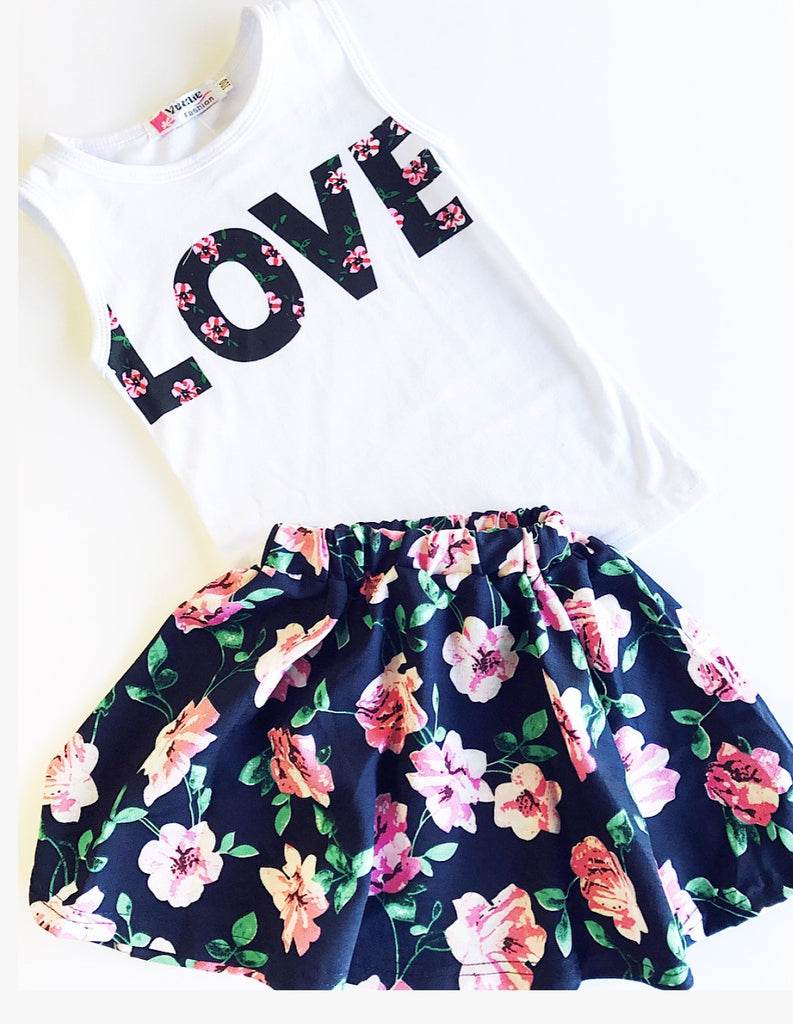 Love Tank and Skirt Set